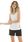 Musculosa Mix Viscosa Blanco - 88015/6