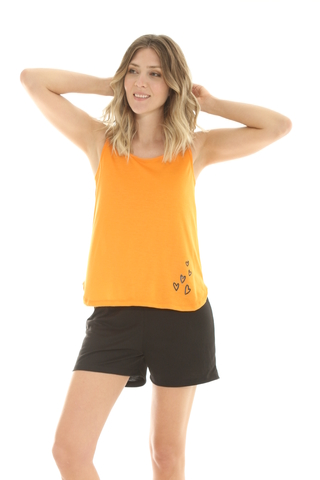 Musculosa Mix Viscosa Negro - 88015/6