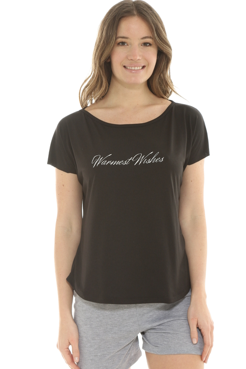 Remera Mix Viscosa Negro - 88013/4