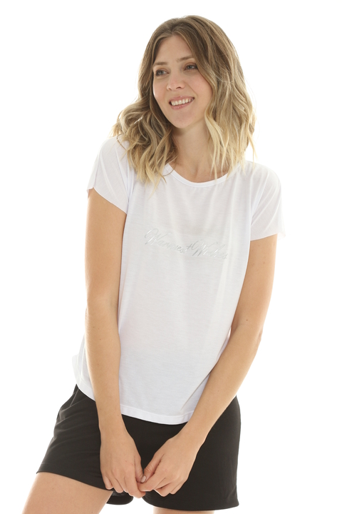 Remera Mix Viscosa Blanco - 88013/4