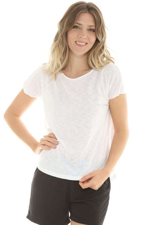 Remera Mix Flame Blanco - 88011/2