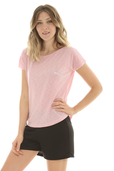 Remera Mix Flame Rosa - 88011/2