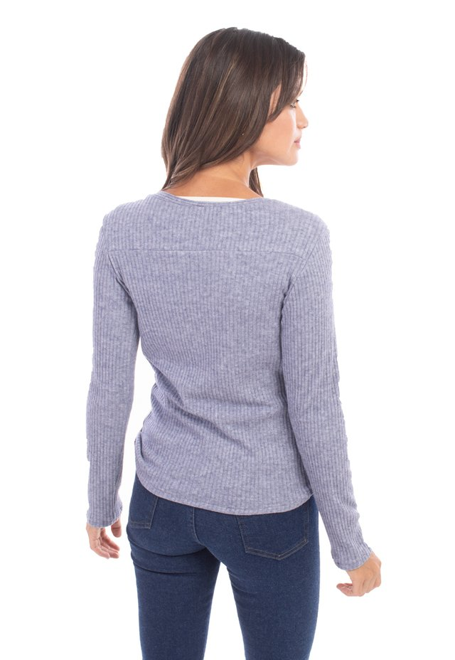 Sweater Hirst denim blue en internet