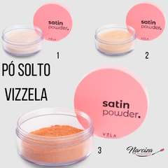satin powder - pó facial solto vizzela