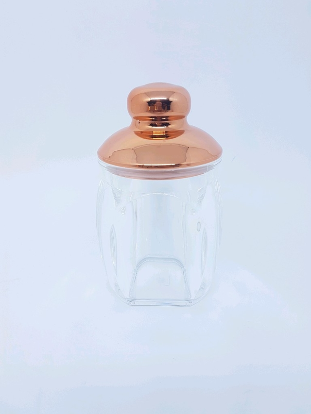 Pote Acrílico Rose Gold G