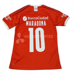 Camiseta Independiente Titular 2020 Homenaje Maradona en internet