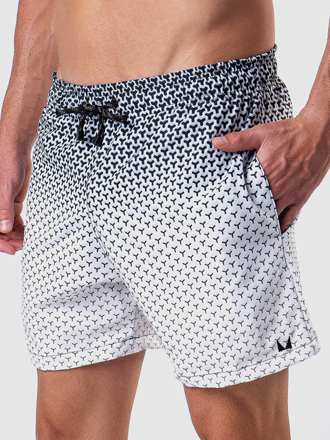 Shorts Praia Black White MVCK-01