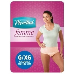 PLENITUD ADULTO ROPA INTERIOR MUJER G/XG PAQUETE X8 UDS.