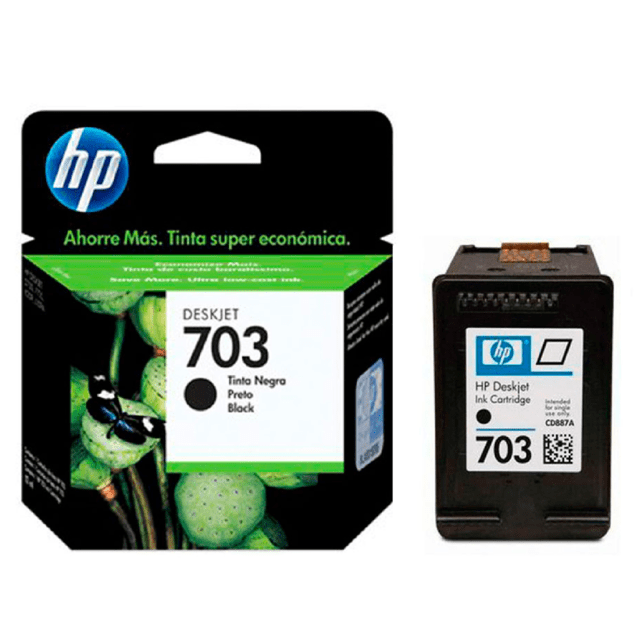 Cartucho HP original 703 negro