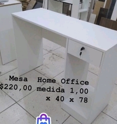 Mesa home office com gaveta e prateleira para CPU cód.basic6