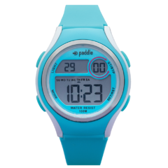 reloj digital unisex paddle watch celeste