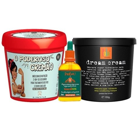 compra kit girl power poderoso cremao dream cream pinga cenoura oliva lola cosmetics beautypoo cosmeticos