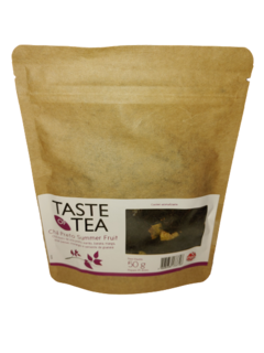 Cha Preto Summer Fruit Bag Com Visor 50GR Taste of Tea a vencer