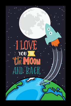 Quadro I love you to the moon #3 - loja online