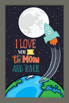 Quadro I love you to the moon #3 - comprar online