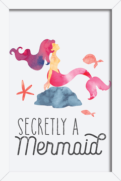 Quadro Secretly a Mermaid - comprar online