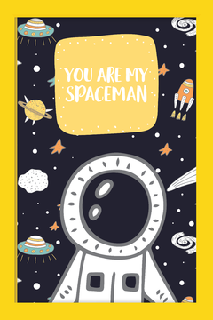 Quadro You are my Spaceman