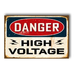 PLACA DANGER HIGH VOLTAGE - comprar online