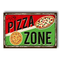 PLACA PIZZA ZONE - comprar online