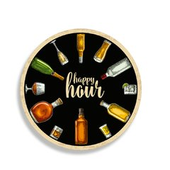 PLACA HAPPY HOUR 30 cm - comprar online