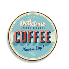 PLACA COFFEE RETRO 30 cm - comprar online