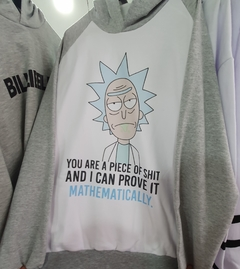 Buzo Unisex  Adulto Rick y Morty Rick You are a Piece of shit