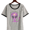 Remera Dama Ringer Alien Queen