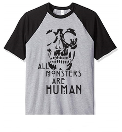 Remera Unisex Ranglan All Monsters Skull