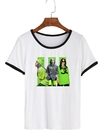 Remera Dama Ringer Billie Eilish Collage Fotos