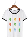Remera Dama Ringer Billie Eilish Colores