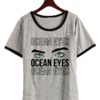 Remera Dama Ringer Billie Eilish Ocean Eyes