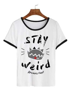 Remera Dama Ringer Riverdale Stay Weird