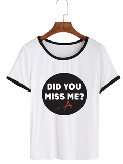 Remera Dama Ringer Pretty Little Liars Did You Miss Me?