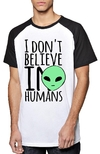 Remera Unisex Ranglan Aliens Dont Believe