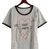 Remera Dama Ringer Harry Styles Fine Line Heart