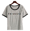 Remera Dama Ringer Friends Clasico
