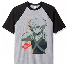 Remera Unisex Ranglan  Bakugo Graffitty