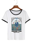Remera Dama Ringer Harry Styles Adore You
