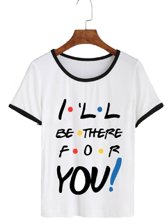 Remera Dama Ringer Friends I´ll Be There