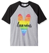 Remera Unisex Ranglan LGTBIQ+ Love Wins