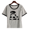 Remera Dama Ringer Carita Kawaii Panda Sleep