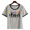 Remera Dama Ringer Friends Paraguas