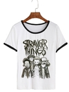 Remera Dama Ringer  Stranger Things Chicos Chorrea