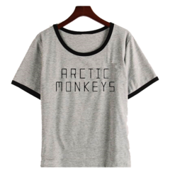 Remera Dama Ringer Artic Monkeys Vector