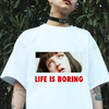 Remera Unisex Clásica Life is boring Mia Wallace