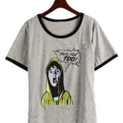 Remera Dama Ringer It Float Too