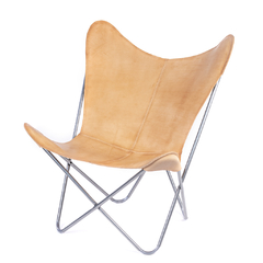 BUTTERFLY CHAIR · A S S A M B L E · NATURAL LEATHER on internet