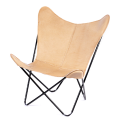BUTTERFLY CHAIR · A S S A M B L E · NATURAL LEATHER