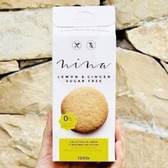Galletas NINA Lemon and Ginger Sugar Free - 120 gr