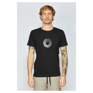 Camiseta T-Shirt Sense Cassete Bike Passion - Preto